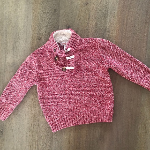 Cat & Jack Other - 4T Cat & Jack Red Button Sweater -Q4